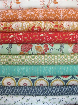 Bonnie Christine for Art Gallery, Reminisce, Vivid Reflections in FAT QUARTERS 10 Total