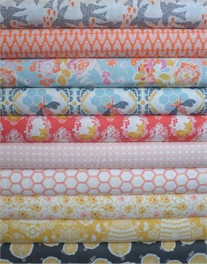 Bonnie Christine, Sweet as Honey, Spring Harvest in FAT QUARTERS 8 Total (PRE-CUT)