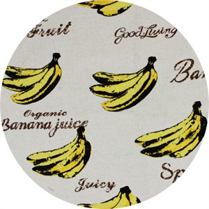 Cosmo Textiles, CANVAS, Bold Bananas Natural