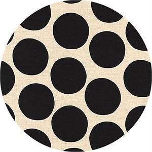 Sevenberry for Robert Kaufman, Cotton/Flax Prints, CANVAS, Bold Dot Black