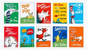 "Robert Kaufman, Celebrate Seuss 4, Books Adventure (24"" Panel)"