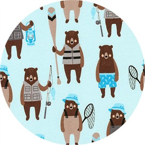 Andie Hanna for Robert Kaufman, Brawny Bears, Brawny Bears Denim
