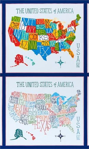"Robert Kaufman, Explore America, Bright (23"" Panel)"