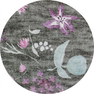 Nani Iro, BRUSHED CANVAS, Birds and Blooms Coal