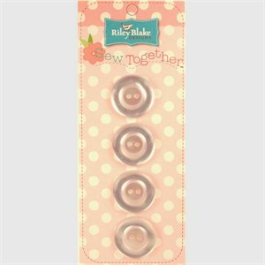 Buttons, Pearl, 1 Inch, White