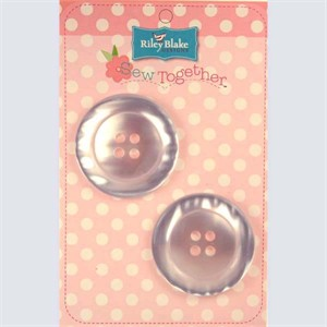 Buttons, Pearl, 2 Inch, White