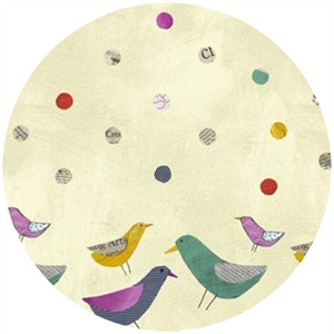 Carrie Bloomston, Collage, Border Birds Paper