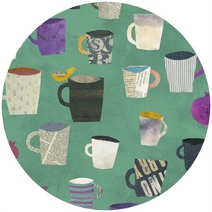 Carrie Bloomston, Collage, Mugs Aqua