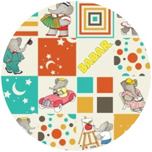 Camelot Cottons, Babar, Blocks Multi