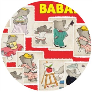 Camelot Cottons, Babar, Stamps Red
