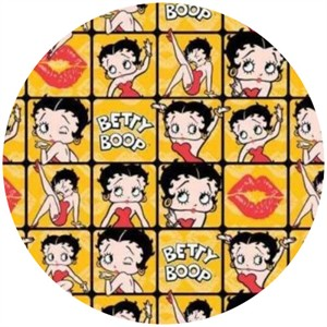 Camelot Cottons, Betty Boop, Frames Yellow