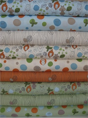 Camelot Cottons, Day At the Zoo, Entire Collection in FAT QUARTERS 9 Total
