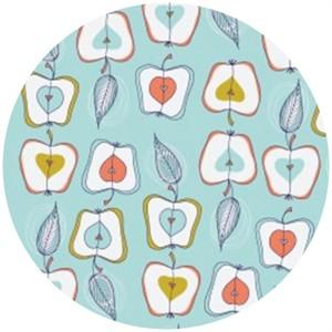 Camelot Cottons, Fruit Stand, Apples Blue