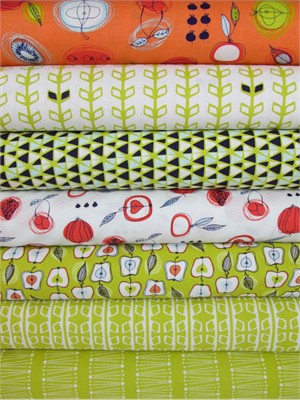 Camelot Cottons, Fruit Stand, Citron in FAT QUARTERS 7 Total
