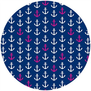 Camelot Cottons, In The Navy, Anchors Away Multi