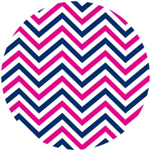 Camelot Cottons, In The Navy, Chevron Multi