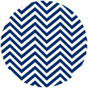 Camelot Cottons, In The Navy, Chevron White/Navy