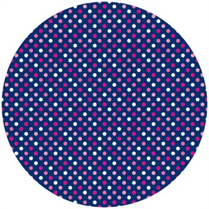 Camelot Cottons, In The Navy, Mini Dot Multi