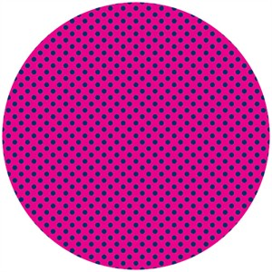 Camelot Cottons, In The Navy, Mini Dot Fuchsia