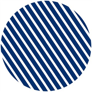 Camelot Cottons, In The Navy, Stripe White/Navy