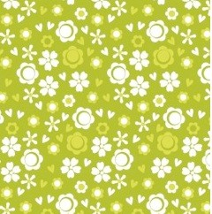 Camelot Cottons, Itty Bitty, Ditsy Floral Green