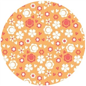 Camelot Cottons, Itty Bitty, Ditsy Floral Orange