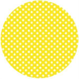 Camelot Cottons, Itty Bitty, Polka Dots Yellow