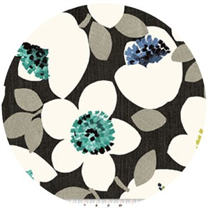 Contempo, Cachet, Large Floral Green/Charcoal