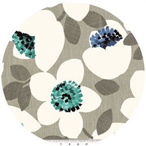 Contempo, Cachet, Large Floral Green/Gray