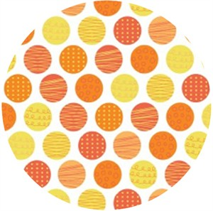 Camelot Cottons, Let�s Go, Polka Dots Orange