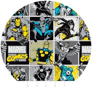 Camelot Fabrics, Marvel, Comic Blocks Sunshine