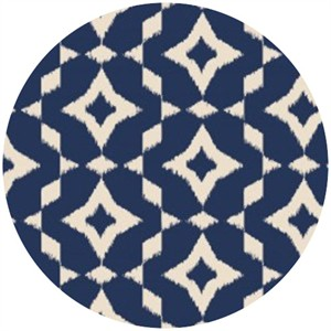 Camelot Cottons, Mint to Be, Ikat Navy