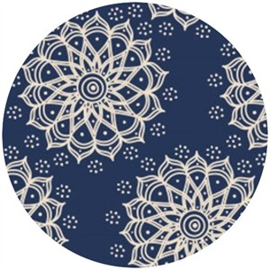 Camelot Cottons, Mint to Be, Mandala Navy