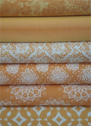 Camelot Cottons, Mint to Be, Orange 6 Total