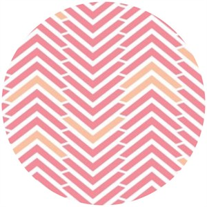 Camelot Cottons, Penelope, Amor Chevron Pink
