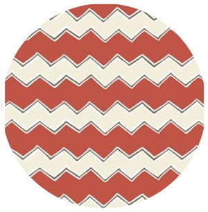 Camelot Cottons, Playground, Zig Zags Red