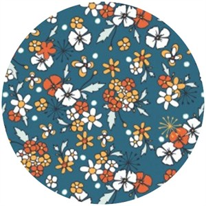 Camelot Cottons, Providence, Ditsy Floral Blue