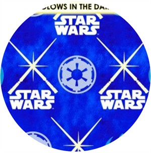 Camelot Cottons, Star Wars: The Dark Side, Glowing Lightsabers Blue