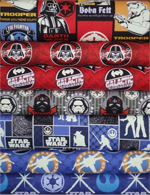 Camelot Cottons, Star Wars: The Dark Side, Entire Collection in FAT QUARTERS 7 Total