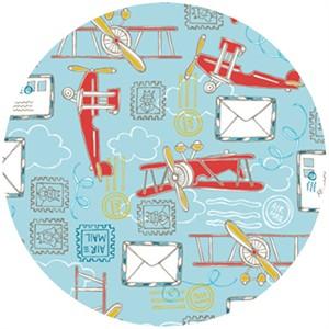 Camelot Cottons, Take Flight, Air Mail Light Blue