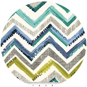 Contempo, Cachet, Zig Zag Green/Gray