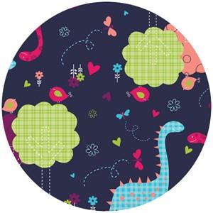 Camelot Fabrics, Baby Dino, Dino Fam Navy