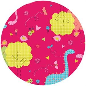 Camelot Fabrics, Baby Dino, Dino Fam Pink