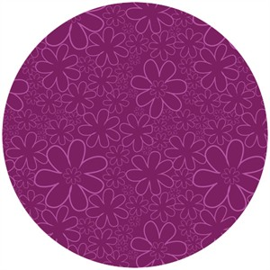 Camelot Fabrics, Baby Dino, Flowers Purple