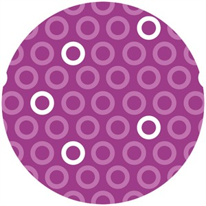 Camelot Fabrics, Baby Dino, Rings Purple