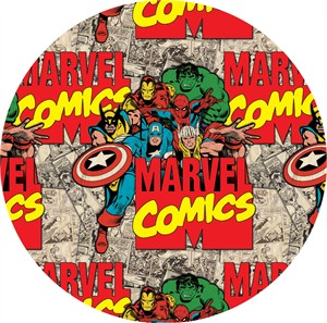 Camelot Fabrics, Marvel Comics, Super Imposed Characters & Logo Multi