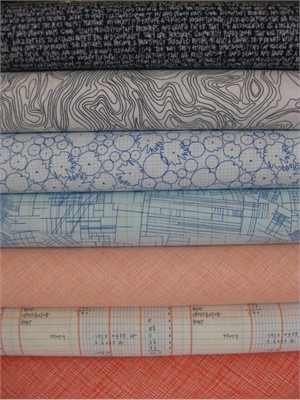 Carolyn Friedlander, Architextures, Blue in FAT QUARTERS, 7 Total