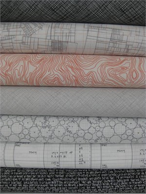 Carolyn Friedlander, Architextures, Grey in FAT QUARTERS, 7 Total