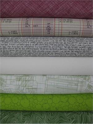 Carolyn Friedlander, Architextures, Plum/Grass, 7 Total