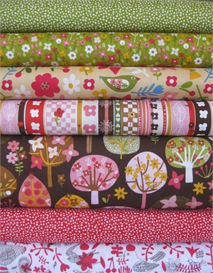 Carolyn Gavin, Village Green, Pink in FAT QUARTERS 7 Total